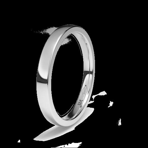 Alianza de platino forma rectangular estandar