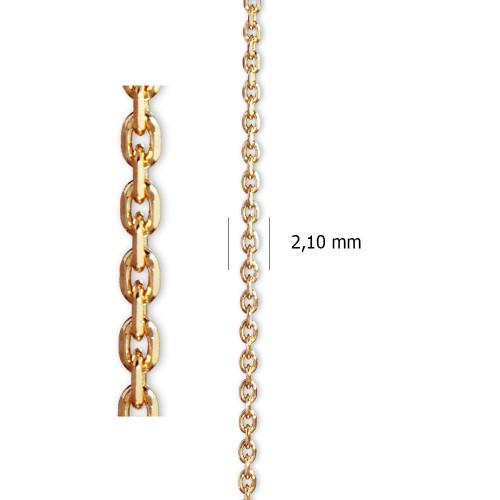 Cadena Ancora Lapidada de oro amarillo de 18 kt.