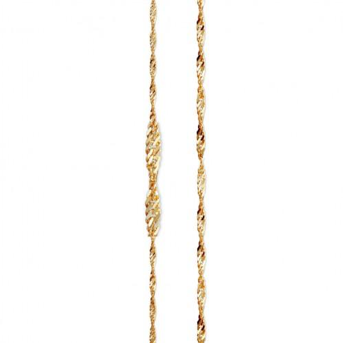 Cadena Ancora Doble Torcida de oro amarillo de 18 kt