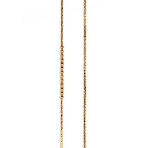 Cadena Veneciana de oro amarillo de 18 kt