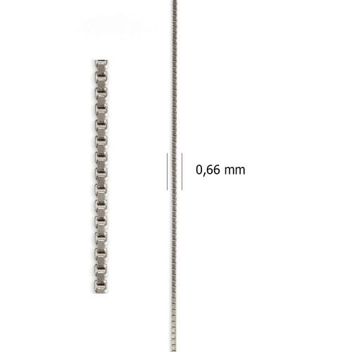 Cadena Veneciana de oro blanco de 18 kt