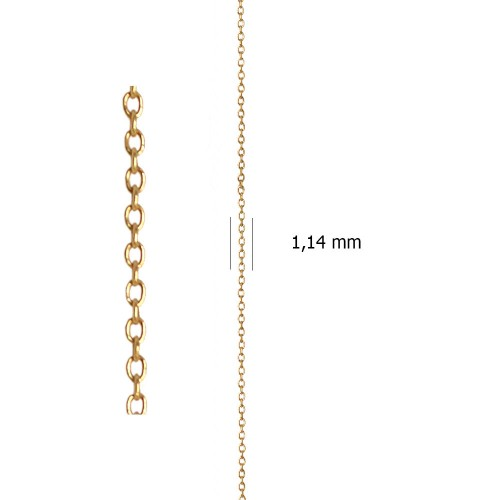 Cadena Ancora sin Lapidar de oro amarillo de 18 Kt