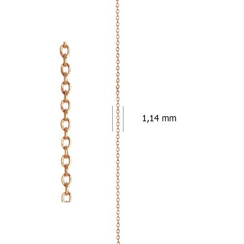 Cadena Ancora sin Lapidar de oro rojo de 18 Kt