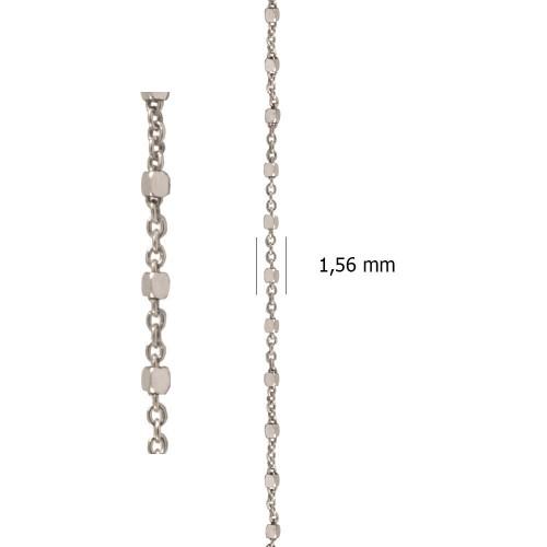 Cadena Ancora combinada con Cubo de plata de ley