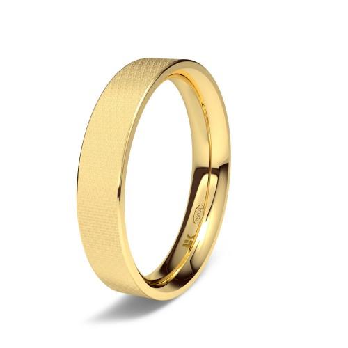 Alianza de oro amarillo Forma D confort