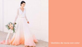 vestidos de novia con color
